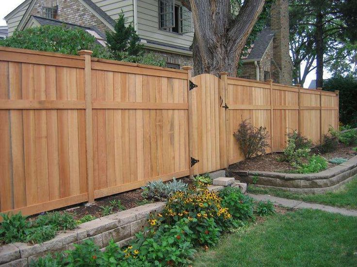 Best 25 fence styles ideas on pinterest wooden fence for Wood privacy fence ideas