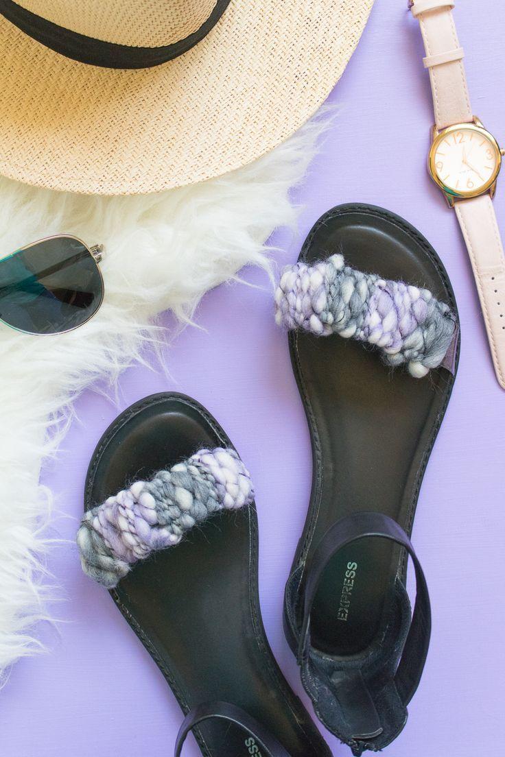 9c3163e09 Quick Fix! DIY Woven Sandal Straps