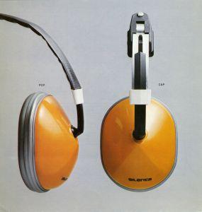 Tuotesuunnittelu Pentti Leskinen. Silenta Pop -kuulonsuojaimet / Silenta Pop hearing protectors. Exel Oy.