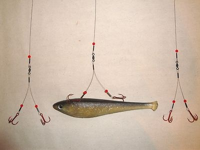 ICE FISHING BLEEDING QUICK STRIKE / SMELT RIG 3-Pack TIP UP LEADER Northern Pike on eBay!