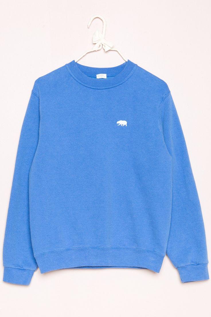 Brandy ♥ Melville   Erica CA Bear Embroidery Sweatshirt - Graphics