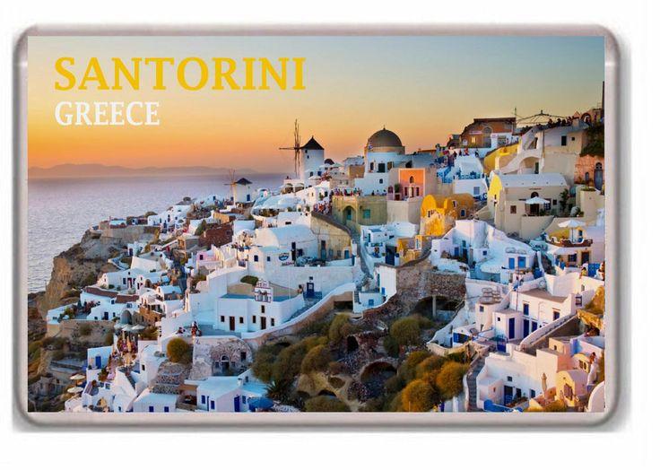 Santorini Greece fridge magnet.!!!