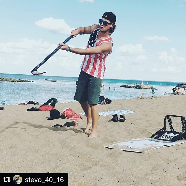 #Repost @stevo_40_16 ・・・ Nothing like saucing some pucks on the beach #GONGSHOW…