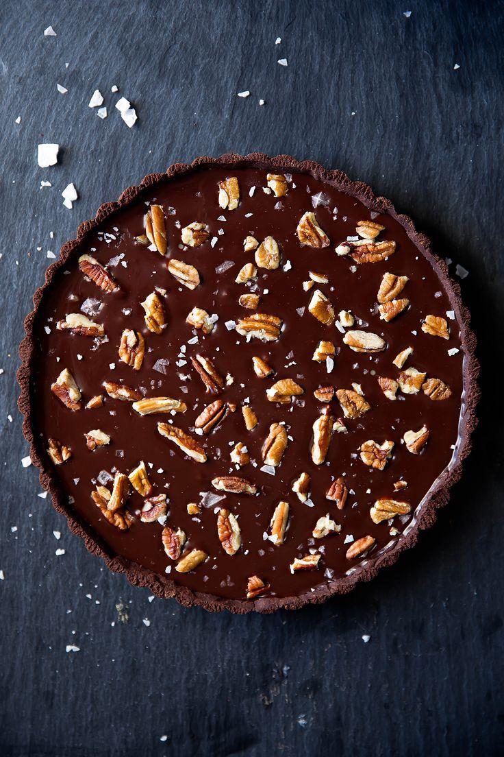 chocolate turtle tart salted caramel chocolate tart chocolate sweets ...