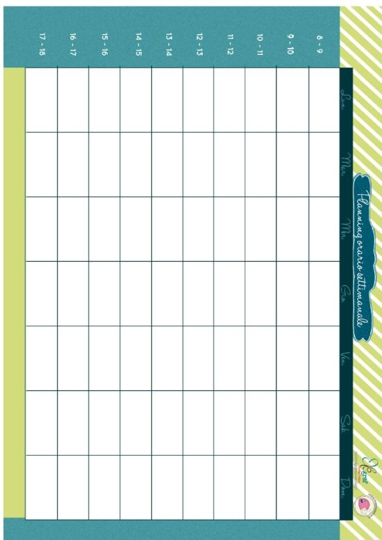 La settimana scorsa abbiamo pubblicato la tabella giornaliera dell'orario scolastico, ovvero un planning in cui segnare le materie di scuola, ora per ora. Questa settimana cambiamo, ma restiamo sempre sul filone scuola: il planning con l'orario dell'intera settimana.    Giorni