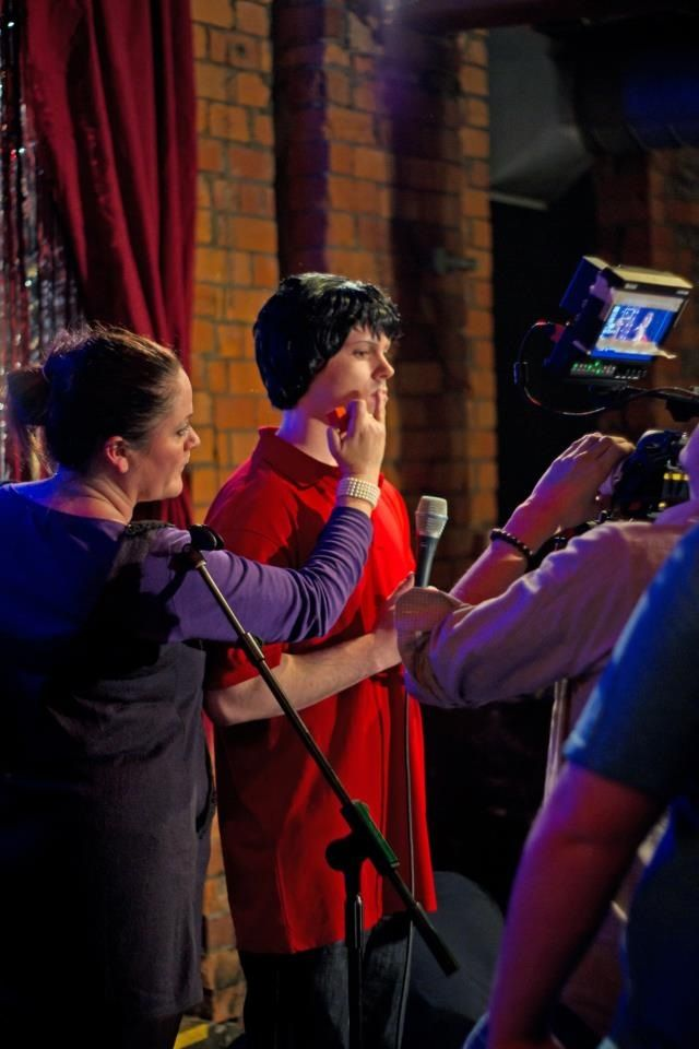 On set of The Final Punchline
