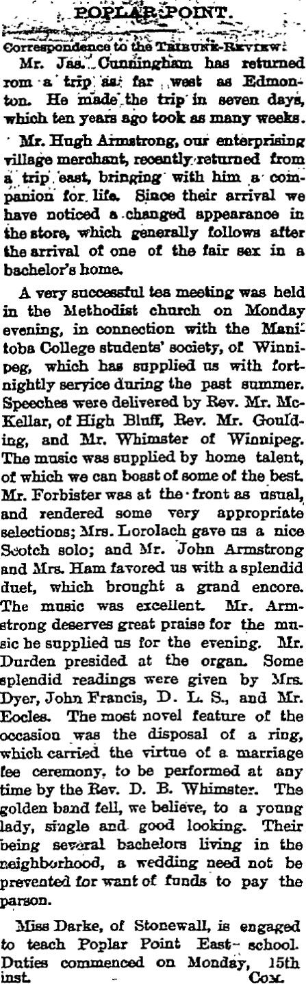 PTR - 20/11/1885 : Digital Resources on Manitoba History