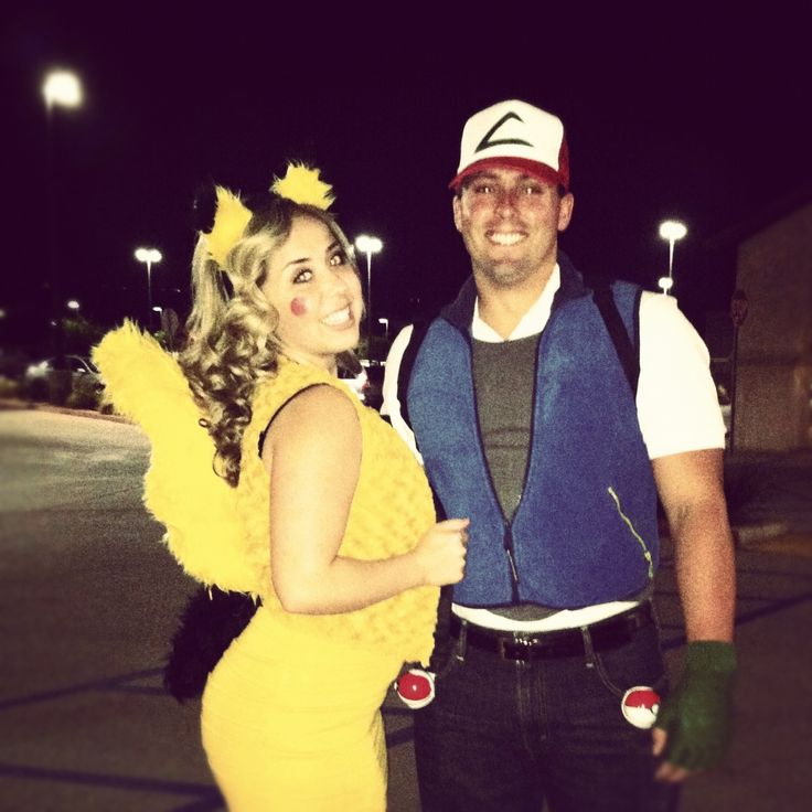 Our homemade couples costume! Pokemon .. Pikachu and Ash  sc 1 st  Pinterest : homemade pikachu costume ideas  - Germanpascual.Com