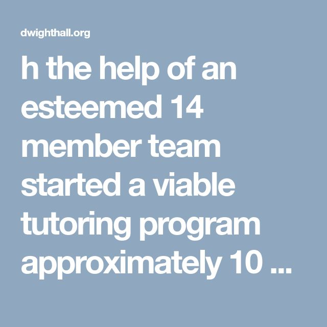 h the help of an esteemed 14 member team started a viable tutoring program approximately 10 years ago. We now are seeking tutors for Wednesday afternoons/evenings between the hours of 4:45 - 6 p.m. This will aid us in enhancing the existing services rendered to students of all levels. Also, we are in need of a SAT prep instructor. It is our belief that students need to be prepared not only for the daily assignments given but for the standardized testing which plays an important role when…