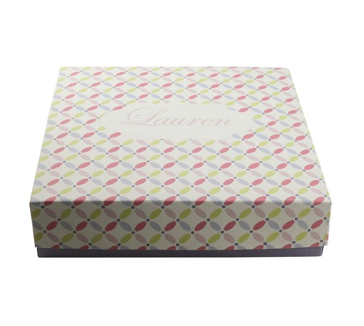 Be My Bridesmaid Box in purple/lilac and pastel colours pattern Customizable Bridesmaid boxes