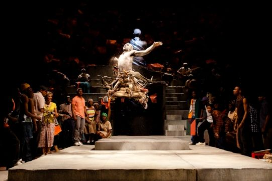 Theo Ogundipe and the cast of Julius Caesar. Photo by Kwame Lestrade: Company 2012, Edgy Shakespearean, Rsc S Julius, Shakespeare Company, Julius Caesar, Africans Julius, Royals Shakespeare, Shakespearean Performing, Rscs Julius