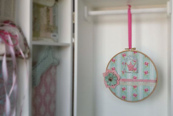 Little princess hoop art  girl's room wall decor  by Renouitas