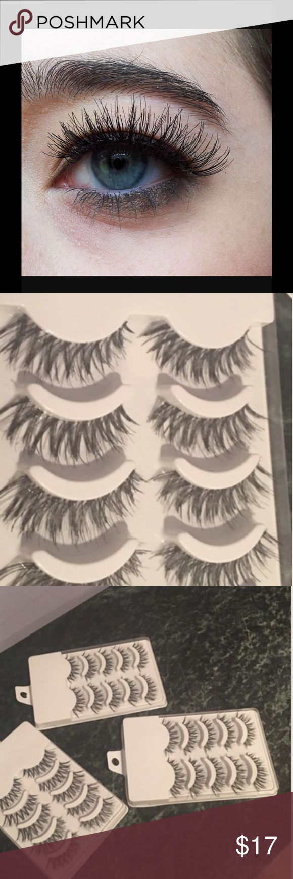 15 pairs human eyelashes and a free glue 15 pair human eyelashes and a free glue. Ship fast, it's my lowest, check my closet, I do bundles 5% off from 2 items and more. It's my lowest - cheapest on a market. Makeup False Eyelashes