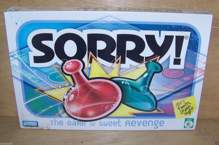 Sorry Board Games Classic Home Play Enjoy The Game of Sweet Revenge Sealed