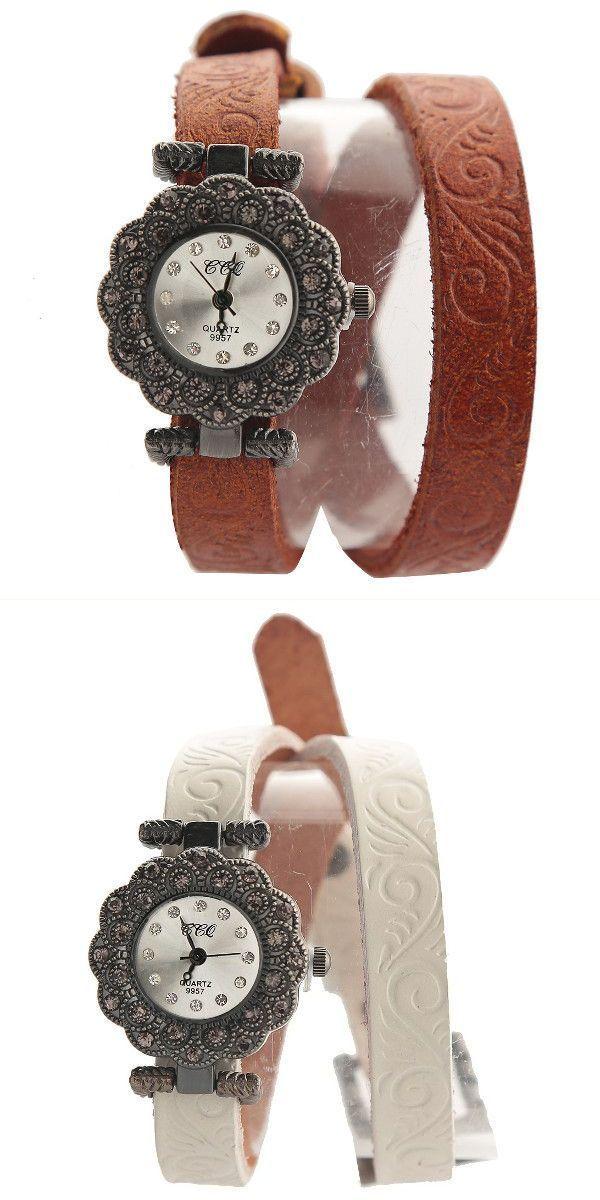 Retro 60#8217;s style dress casual flower shape case rhinestone pu leather band bracelet watch #80s #retro #style #fashion #clothing #amp; #accessories #retro #style #1940 #retro #style #campers #for #sale #retro #style #motorcycle #helmet