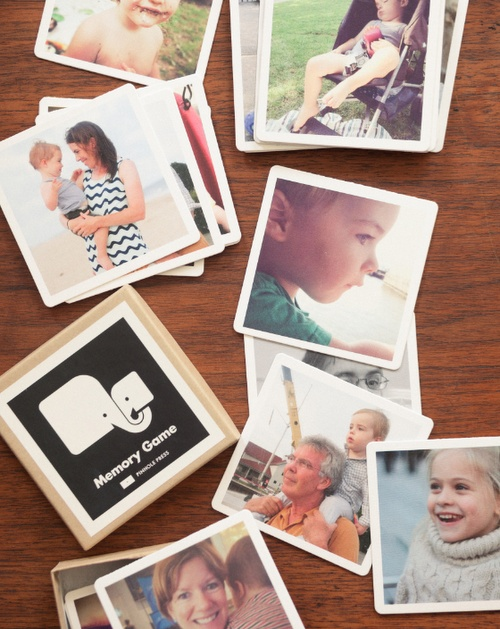 Make your own memory game using family photos