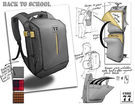 backpack | One Hour Design Challenge: Reinvent the Backpack : TreeHugger