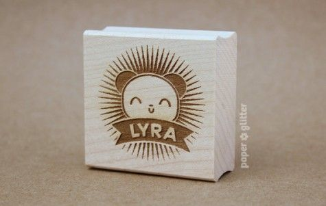 Paper Glitter Personalised Rubber Stamps