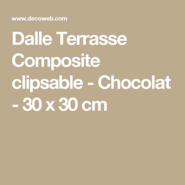 Dalle Terrasse Composite clipsable - Chocolat - 30 x 30 cm