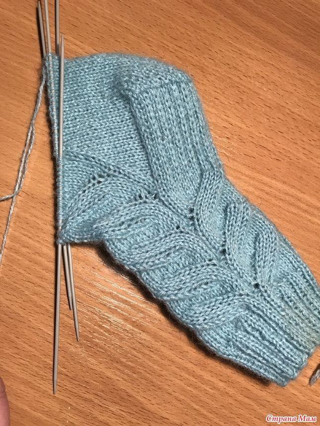 Вяжем носочки с ложной косой!
