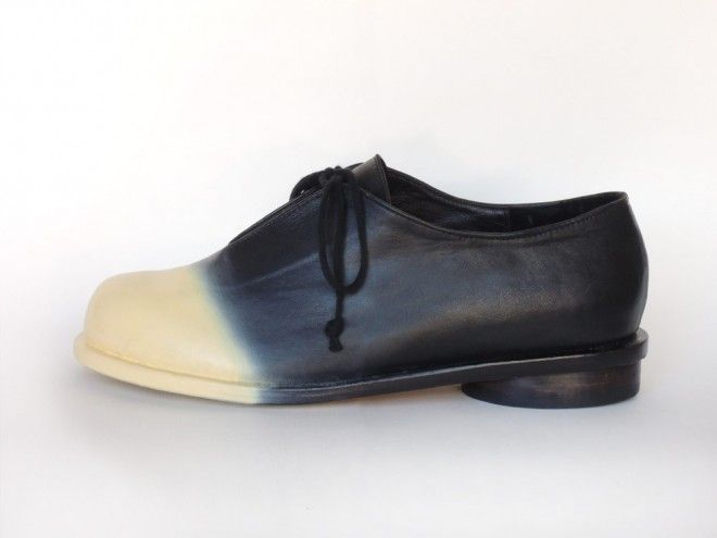 Rodya Two Tone in black with airbrushed Ivory toe by PRESTON ZLY - SOLD OUT