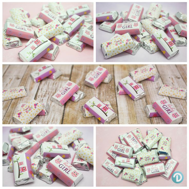 create your own owl baby shower theme hershey mini bars