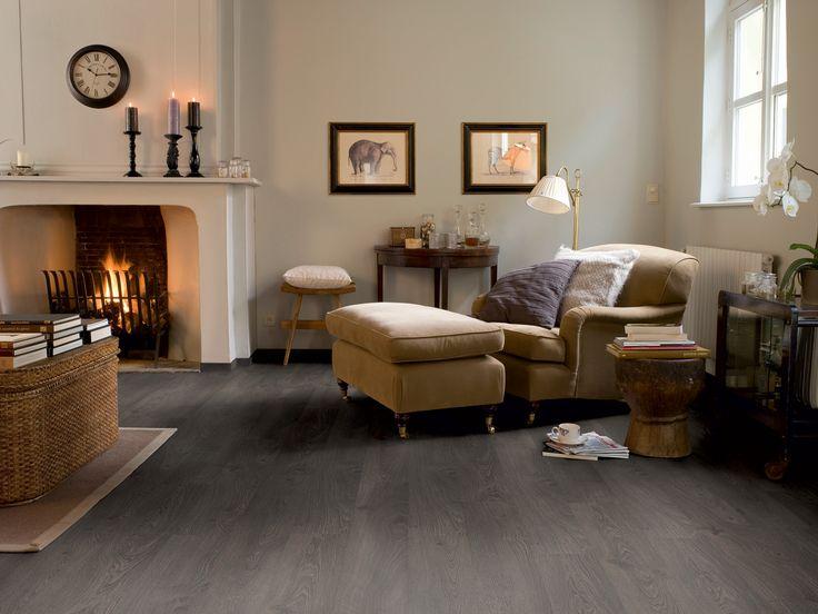 Sfeervol laminaat met nostalgische grijze eiken hout uitstraling - Productnr. FL1001-OEG https://gadero.nl/quickstep-laminaat-800-classic-oude-eik-grijs/