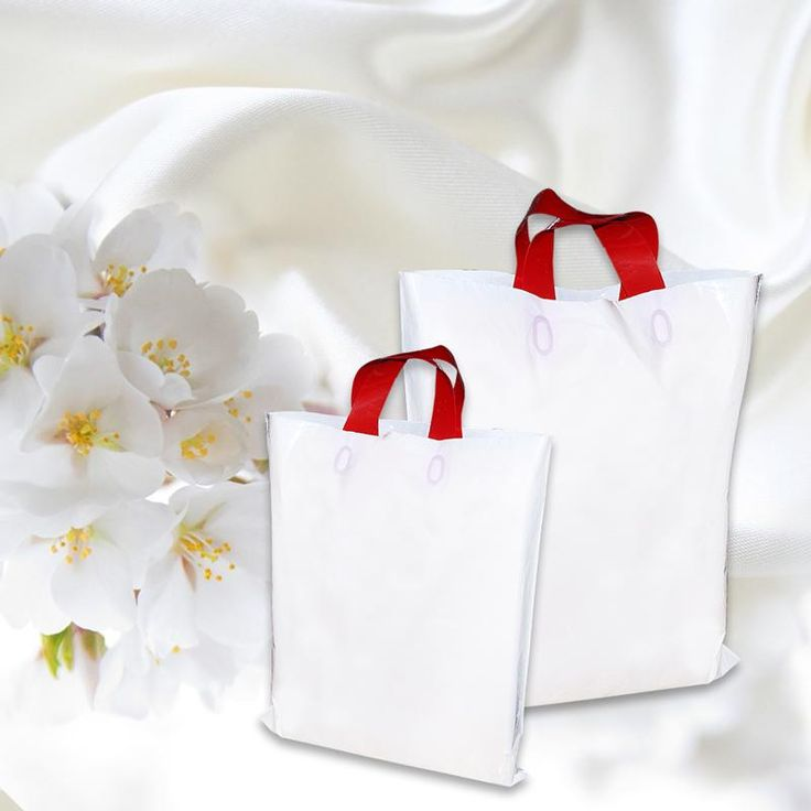 Shop 14 x 16 White Colour Retail Bags With Flexible Carry Handles From PackingSupply.in at Best Price.