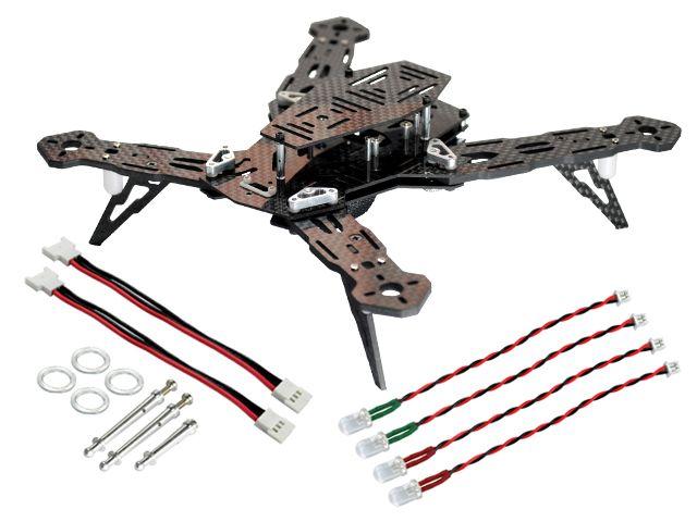 BLADE 200 QX : CNC AL/Carbon Fiber Racing Quadcopter Frame Kit - BLADE 200 QX