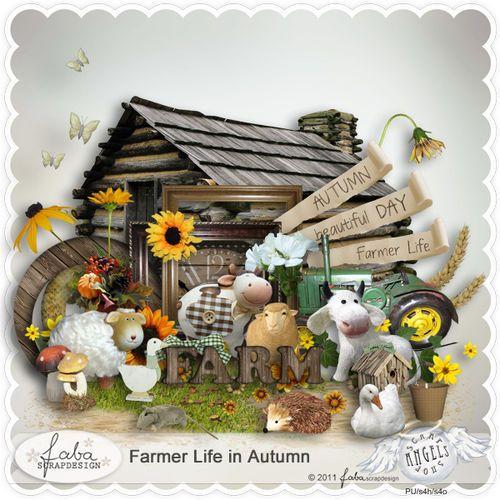 """Скрап-набор """"Жизнь на ферме осенью"""""""