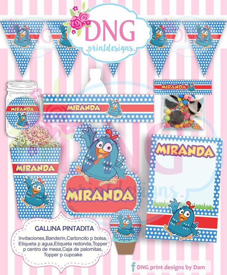 Gallina Pintadita/ Kit Imprimible / Invitacion Gallina Pintadita /