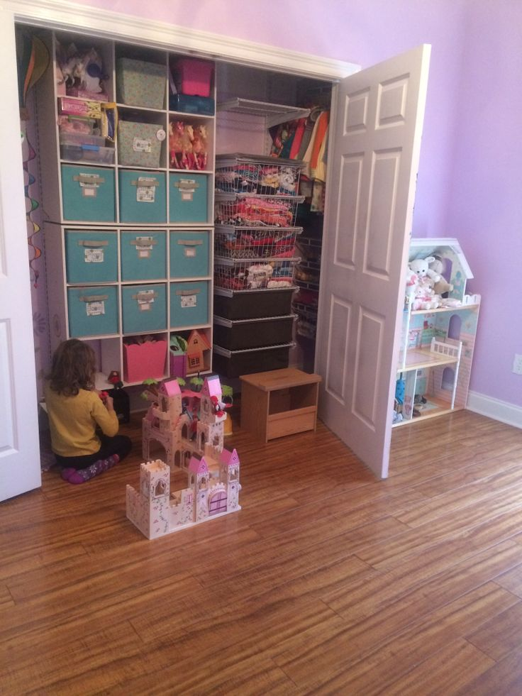 I Used Closet Maid Wire And White Laminate Parts Combined For Perfectly  Organized Kids Closet.