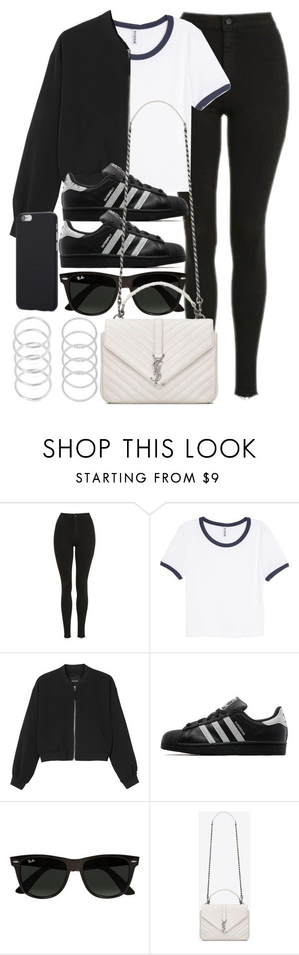 """Style #11103"" by vany-alvarado ❤ liked on Polyvore featuring Topshop, H&M, Monki, adidas Originals, Ray-Ban and Yves Saint Laurent"