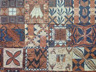 Polynesian Tapa cloth designs - done by my year 5 class.  Brown paper, vivid and dye