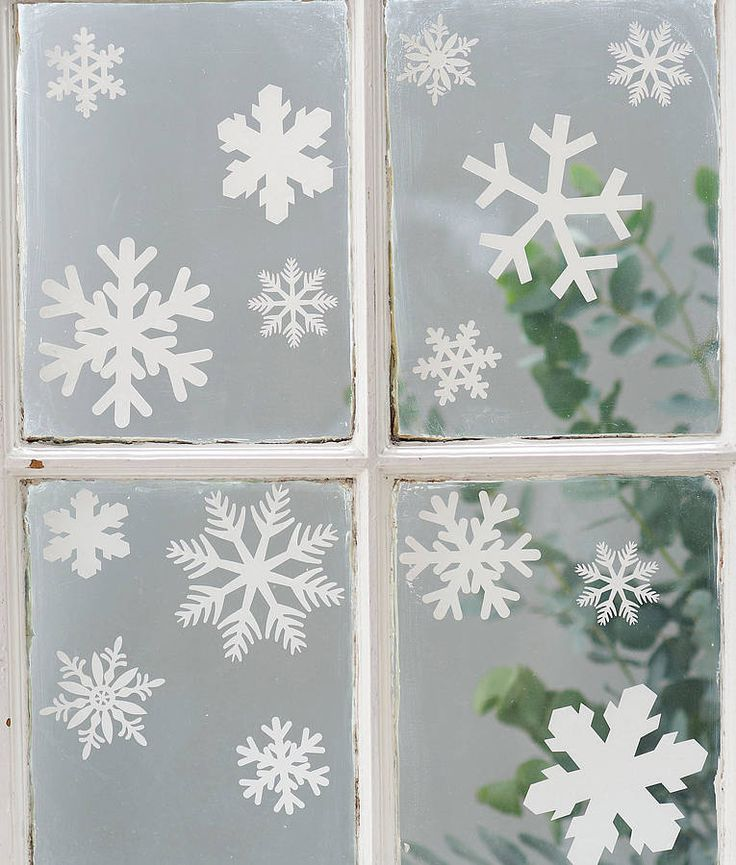 set of 20 snowflake vinyl stickers by nutmeg | notonthehighstreet.com