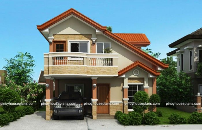PHP-2015021, Two Storey House Plan with Balcony - Pinoy House Plans