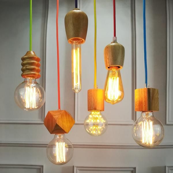 Vintage Oak Wood Retro Pendant Light Retro Pendant Lights Vintage Pendant Lighting Wood Pendant Light