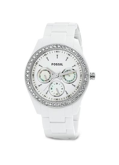 Gorgeous White Fossil® Women's Watch // looooooooovveeee  My valentines gift from the hubby hehe