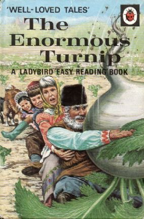 ENORMOUS TURNIP Vintage Ladybird Book Well Loved Tales Series 606D Matt Hardback 1975