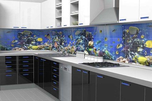 Mutfak 3D Cam Mozaik MTF  8281