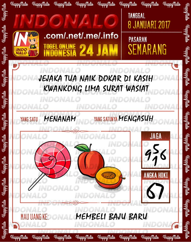 Kode Jaga 4D Togel Wap Online Live Draw 4D Indonalo Semarang 8 Januari 2017