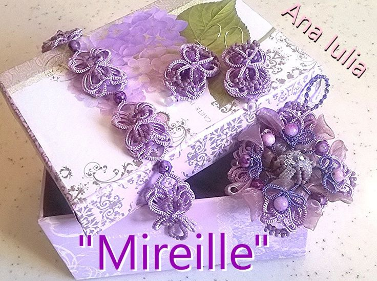 Mireille - Ankars Tatting set by AnaIuliaTattingLace on Etsy