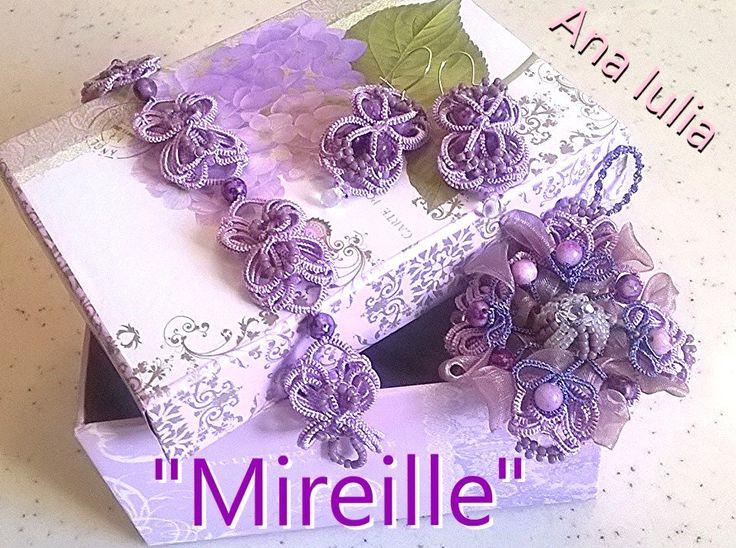 Mireille - Ankars Tatting set by AnaIuliaTattingLace on Etsy