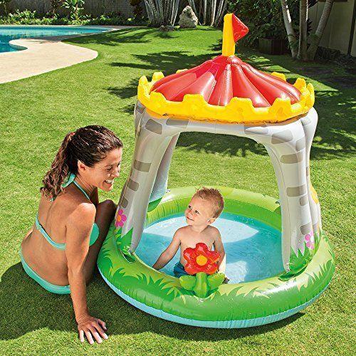 "Summer Kids Royal Castle Baby Pool Water 48"" x 48"" Inflatable Sunshade Fun Play  #INTEX"
