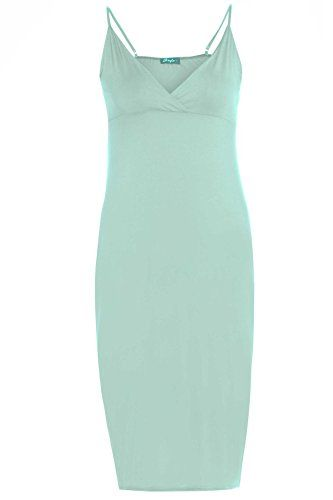 New Womens Strappy Long Midi Dress Cami Bodycon Midi Dress 822  Mint M  * Check out the image by visiting the link.