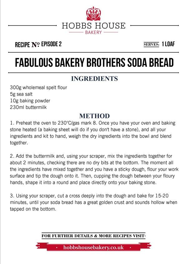 The Fabulous Baker Brothers: Soda Bread Recipe - Hobbs House Bakery - Episode 2