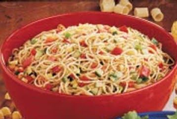 Cold Spaghetti Salad - Simple & Easy to make:   Since we've been having this Spring/Summer like weather, I wanted to try something a little ...