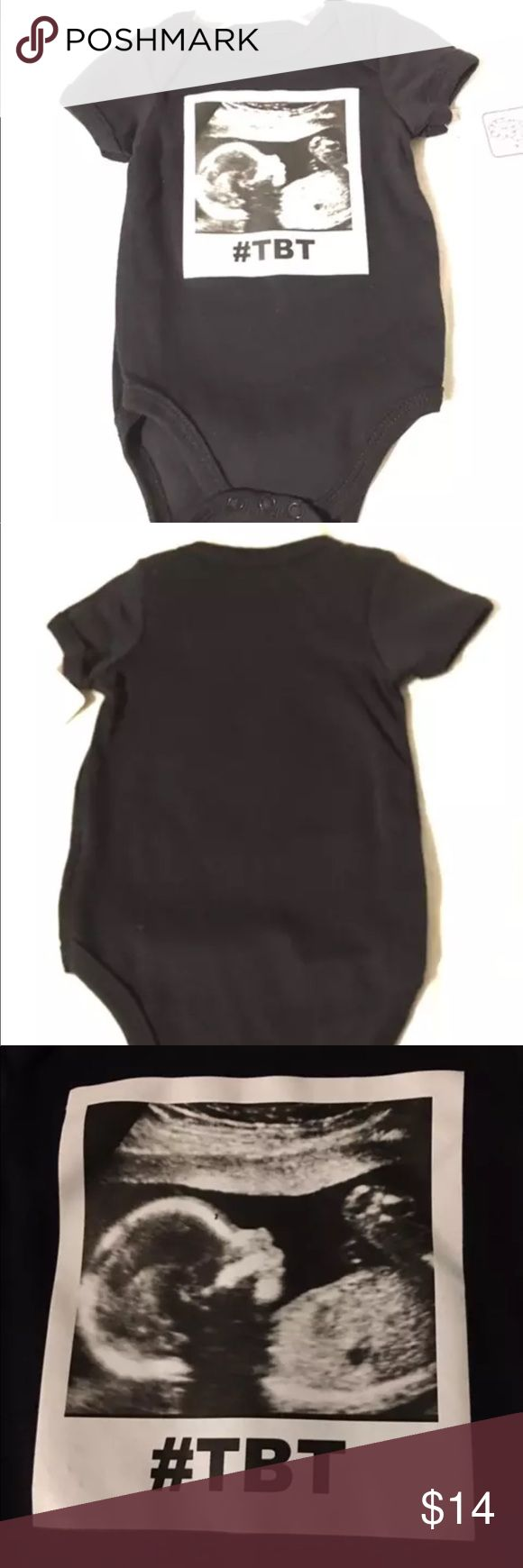 1 piece #TBT Throw Back Ultrasound pic outfit 👶 This one really looks like a genuine sonogram photo. Really cool! We have 2 in 6-9 months and 1 3-6 months. Please specify size and email to ensure your size is available prior to buying swiggles Other