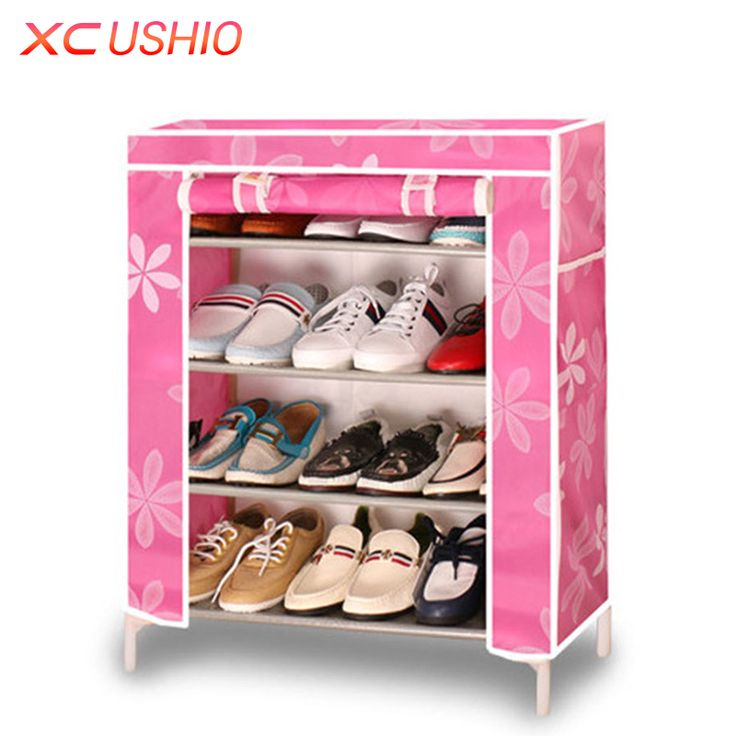 ==> [Free Shipping] Buy Best Multilayer Wooden Shoe Rack Oxford Fabric Dustproof Shoe Cabinet Storage Organizer Home Furniture DIY Simple Combined Shoe Shelf Online with LOWEST Price | 32719135150