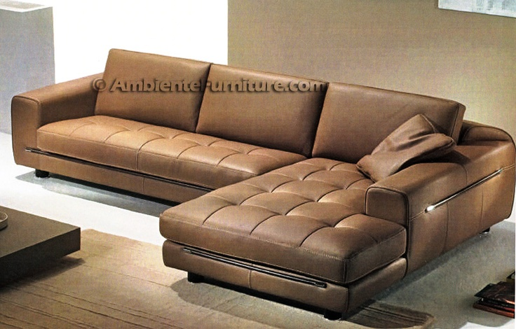 Byblos Leather Sectional Gamma